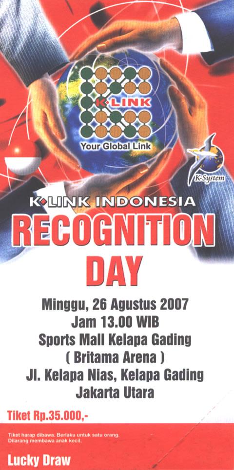 Undangan Recognition Day Jakarta